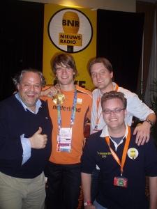 Mark Tuitert en het BNR-team