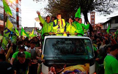 De campagne-karavaan