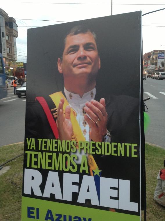 Verkiezingsposter Rafael Correa