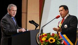 Chávez en Bush