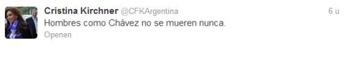 Tweet Cristina