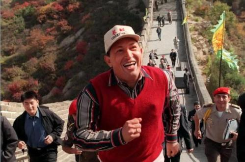 Chávez op de Chinese Muur