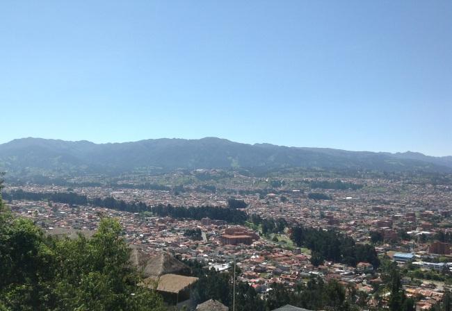Altijd heerlijk lenteweer in Cuenca, maar nooit een mooie zomeravond