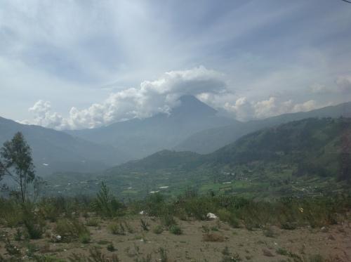 Foto van Tungurahua uit mijn persoonlijke archief (maart 2013)