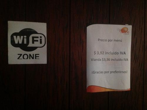 Relatief duur voor Cuenca, maar voor Nederlandse begrippen zijn onze lunches spotgoedkoop