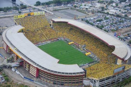 Het Estadio Monumental in Guayaquil is maar iets kleiner dan Nou Camp in Barcelona