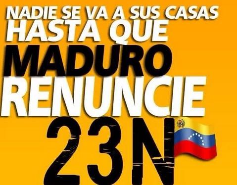 Poster tegen Maduro