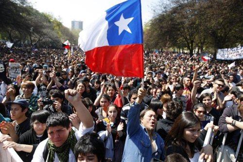 Studentenprotesten in Chili