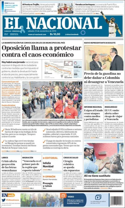 Voorpagina El Nacional