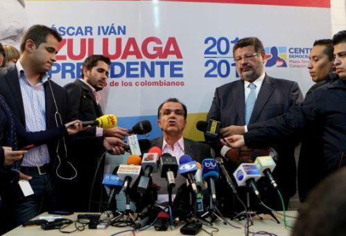 Zuluaga probeerde maandag de schade te beperken op een persconferentie