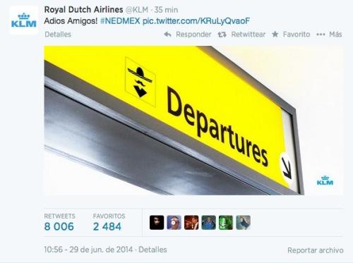 Tweet KLM