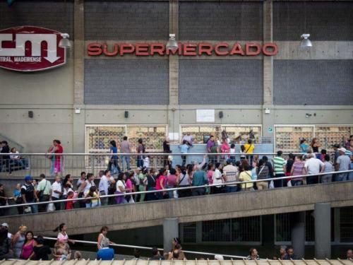 Rijen supermarkt