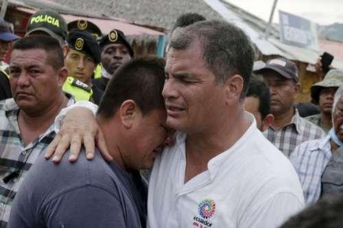 Rafael Correa troost