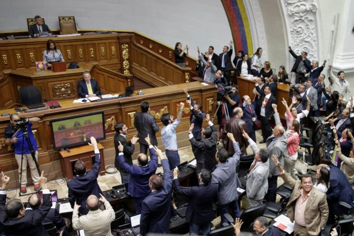 A general view of Venezuela's National Assembly during a session in Caracas