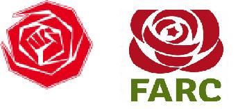 Logo's FARC en PvdA